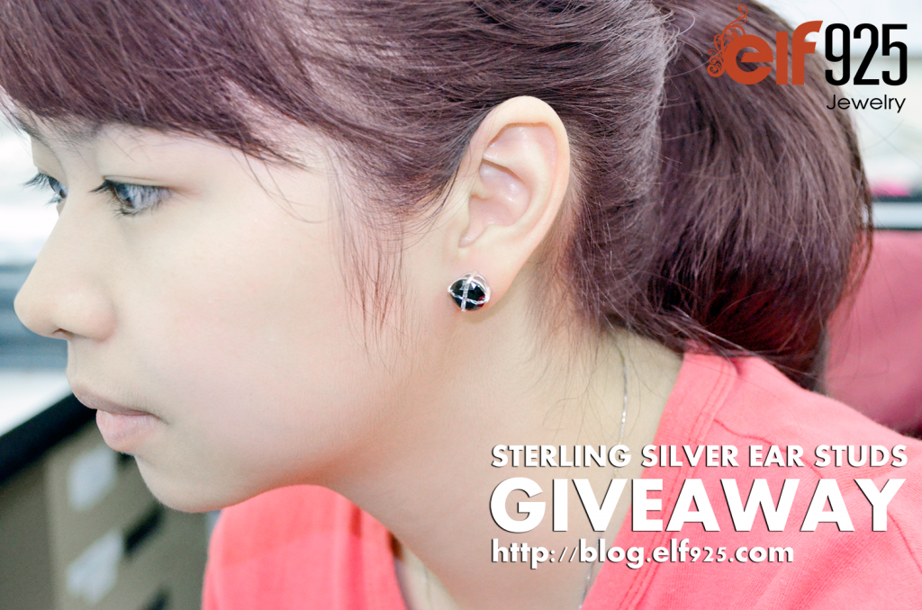 Giveaway Cubic Zirconia Sterling Silver Ear Studs From Elf925
