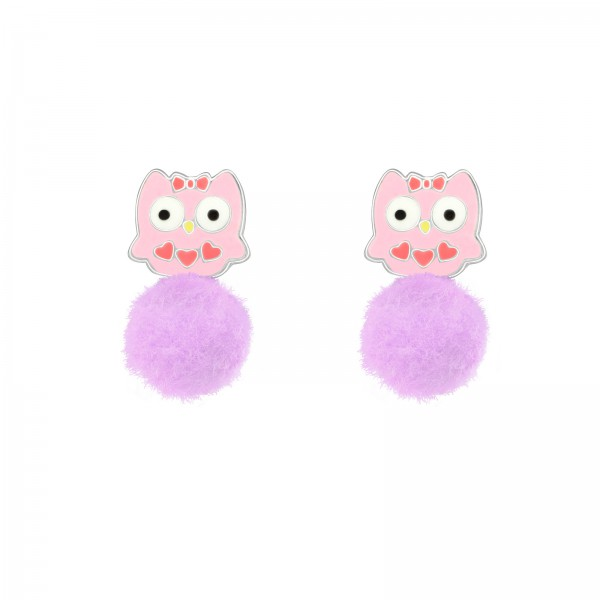 Colorful Ear Studs ES-APS1464-LT PUR-POM-8/39631