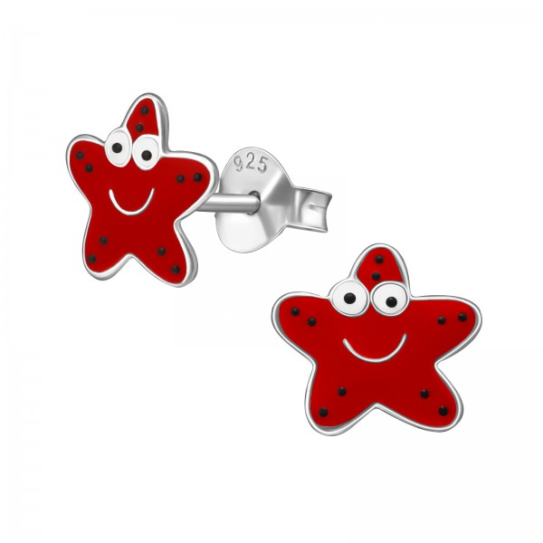 Colorful Ear Studs ES-APS1610-RP RED/39418