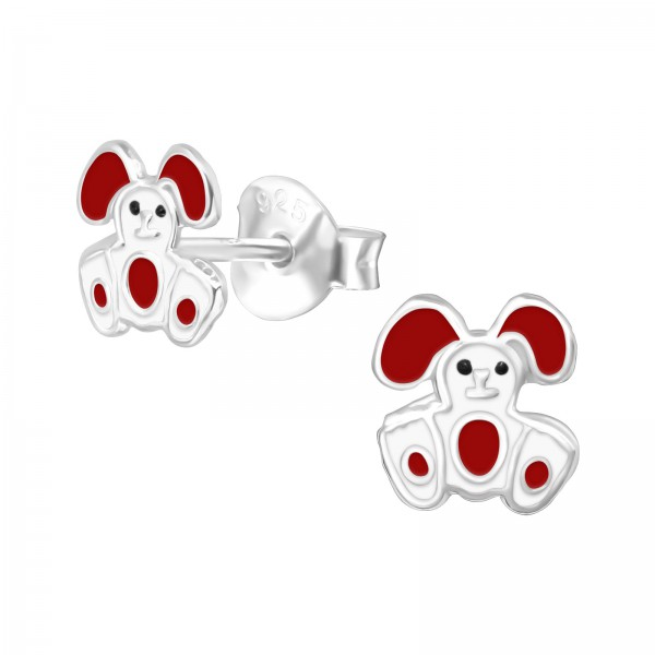 Colorful Ear Studs ES-APS1875 WH/RED/21712