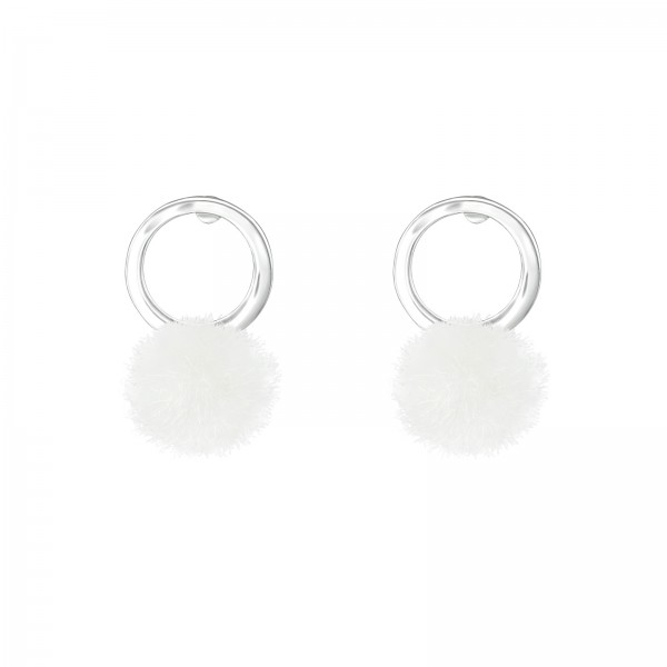 Colorful Ear Studs ES-APS2688-A-FL-POM-6 WH/37053