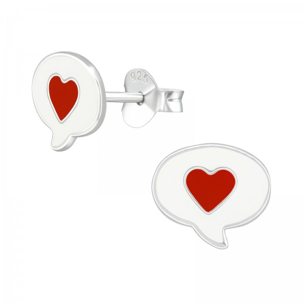 Colorful Ear Studs ES-APS4068 WH/RED/39285