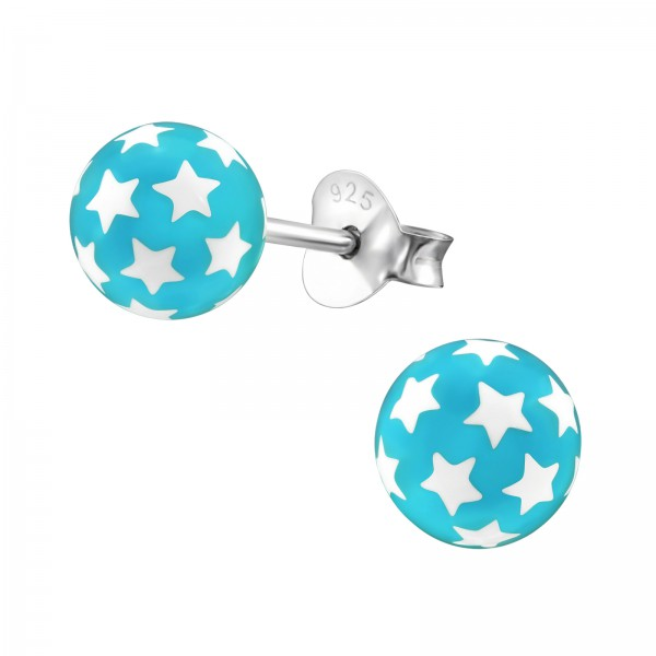 Colorful Ear Studs ES-BALL BL/21977