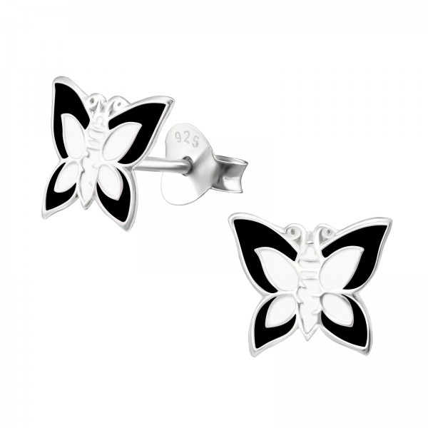 Colorful Ear Studs ESE-14 BK/WH/4624