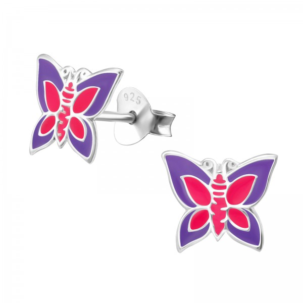Colorful Ear Studs ESE-14 PUR/PK/4626