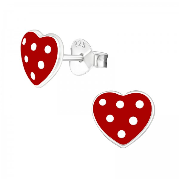 Colorful Ear Studs ESE-34 RD/WH/4378