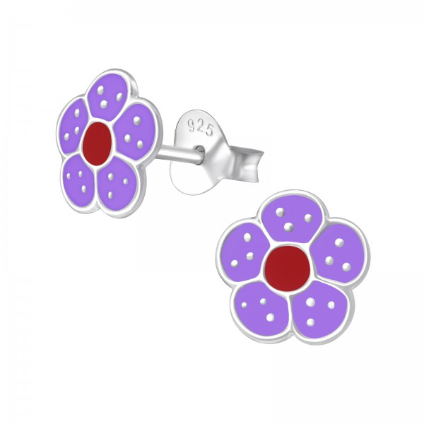 Colorful Ear Studs ESE-35 PUR/RED/975