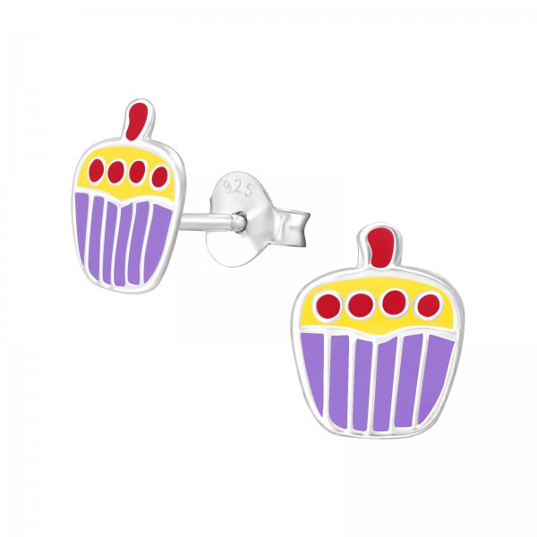 Colorful Ear Studs ESE-36 PUR/YEL/3677