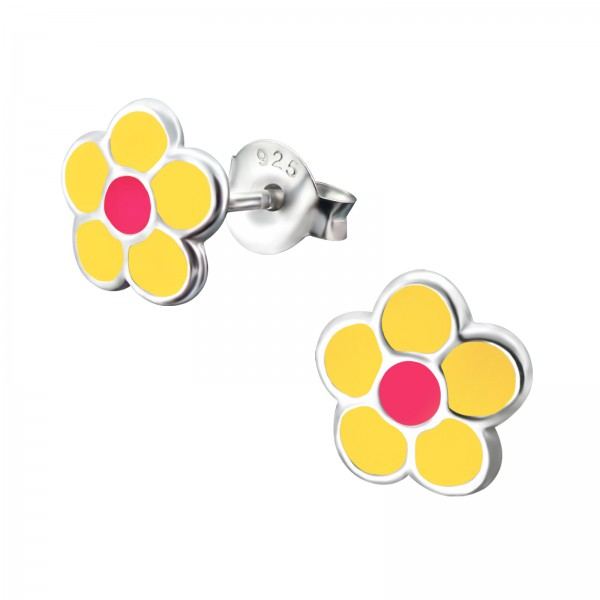 Colorful Ear Studs ESE-39 YEL/PK/15504