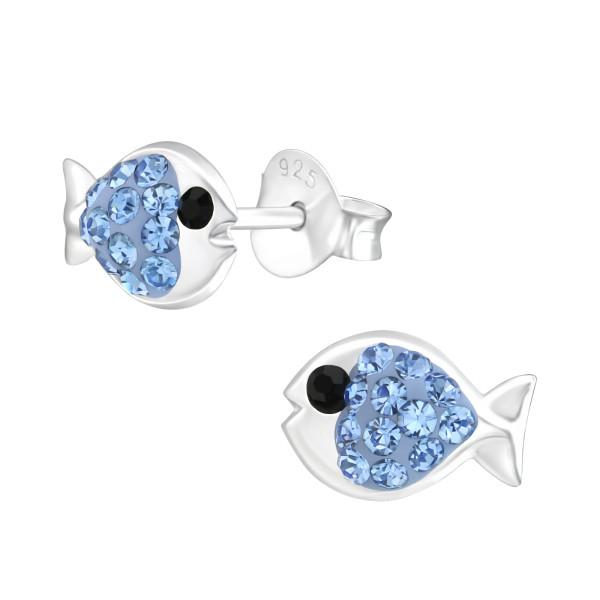 Crystal Ear Studs CC-APS1332 LT.SAP/JET/37743