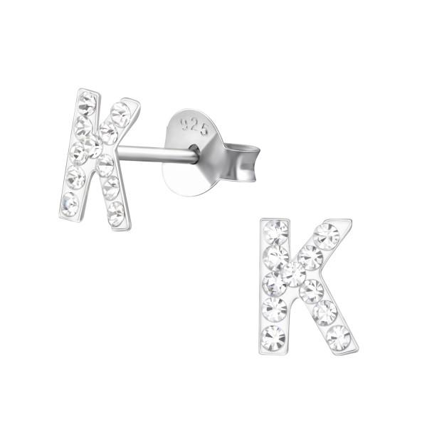 Crystal Ear Studs CC-APS1413-RP/36653