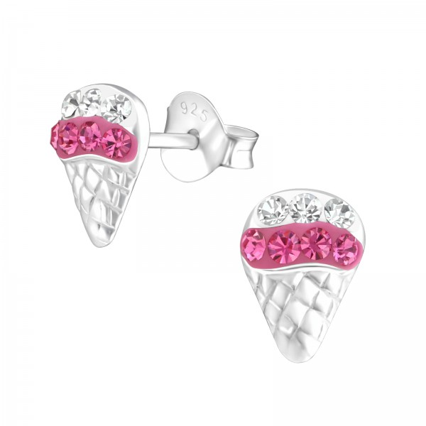 Crystal Ear Studs CC-APS1493 CRY/ROSE/30841