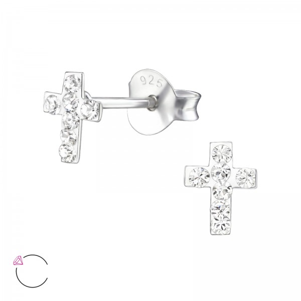 Crystal Ear Studs CC-APS1501-SWR/24681