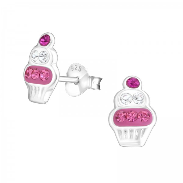 Crystal Ear Studs CC-APS1506 ROSE/CRY/FUS/17654