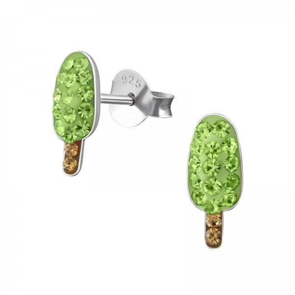 Crystal Ear Studs CC-APS1543-RP PER/SMO.TOPAZ/35784