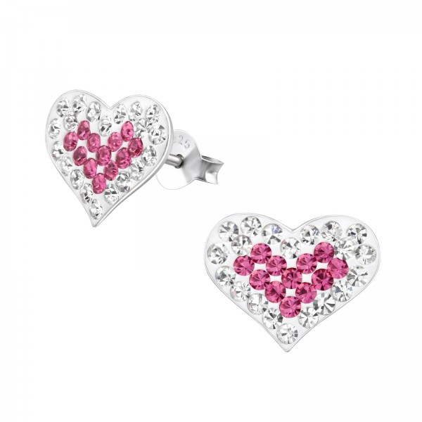 Crystal Ear Studs CC-APS170 CRY OUT/ROSE IN/7006
