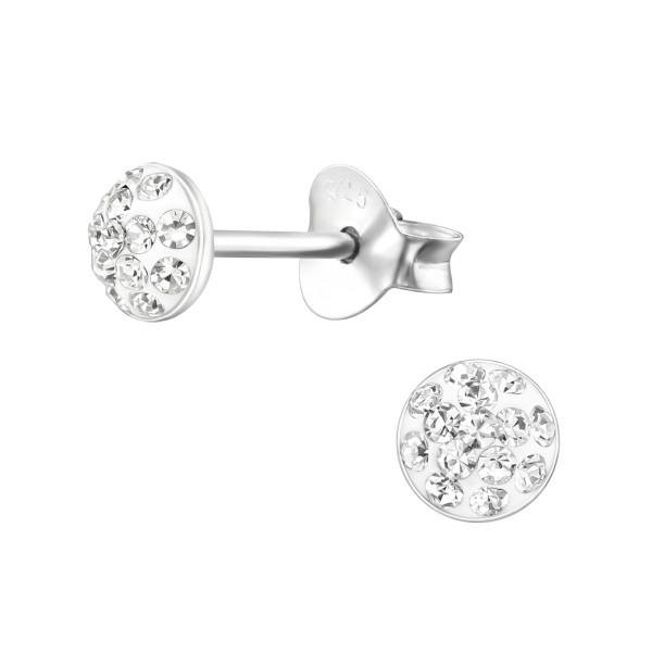 Crystal Ear Studs CC-APS1884-CV-(PP-7)/24654