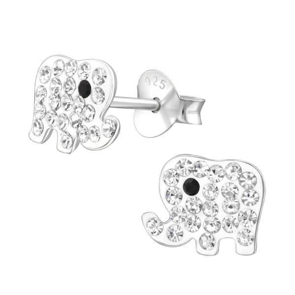 Crystal Ear Studs CC-APS1933 CRY/JET/30265