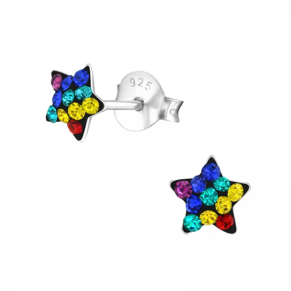 Crystal Ear Studs CC-APS1993 RB/33696