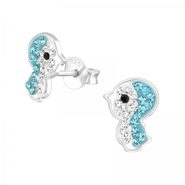 Crystal Ear Studs CC-APS3261 CRY/AQ/33672