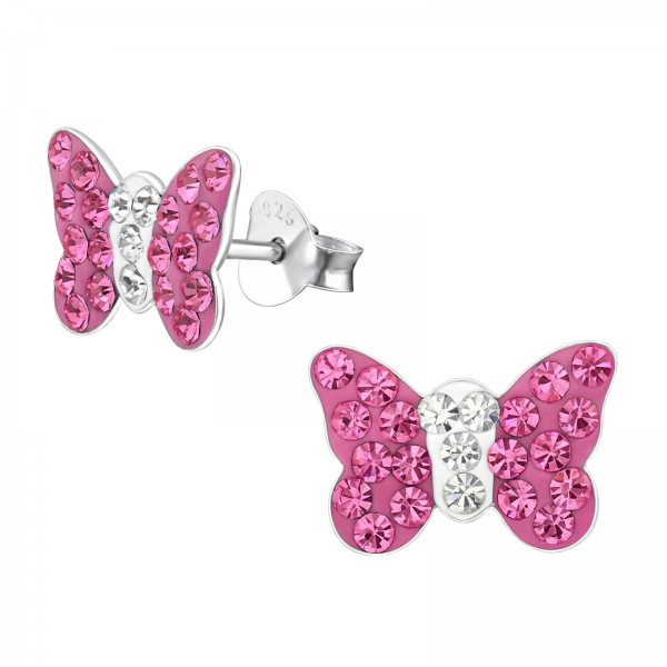 Crystal Ear Studs CCBF-44 (PP9) ROSE/CRY/2261