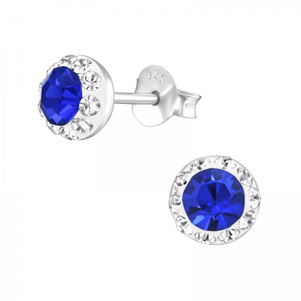 Crystal Ear Studs ES-APS3190-CV-SS18 SAP/CRY/38506