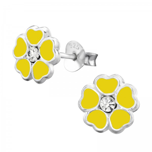 Crystal Ear Studs ESE-54 YELLOW/3912