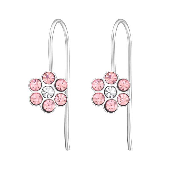 Earrings ERN-APS1263 LT.ROSE/CRY/30209