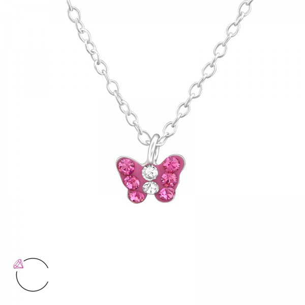 Necklace FORZ25-TOP-APS1992-SWR ROSE/CRY/37646
