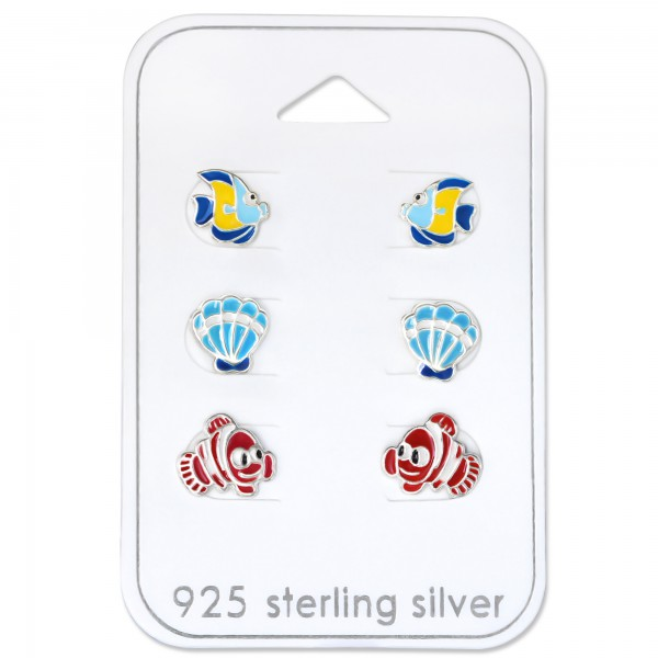 Set & Jewelry on Card ES-APS1554 BL/ES-APS1553 BL/ESE-23 RED/30769