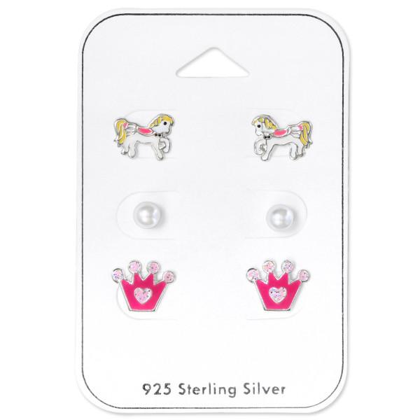 Set & Jewelry on Card ES-APS2157 WH/ESJP3-4 GLASS WH/ES-APS1765 GL PK/33233