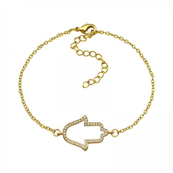 Bracelet & Necklace SBR-1077 GD/34278