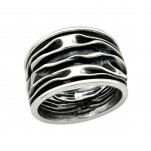 Silver Wave Ring, #39921