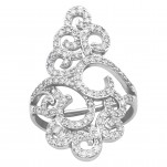Silver Flower Ring, #39897