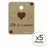 Life is a game Ear Stud Cards, #34092