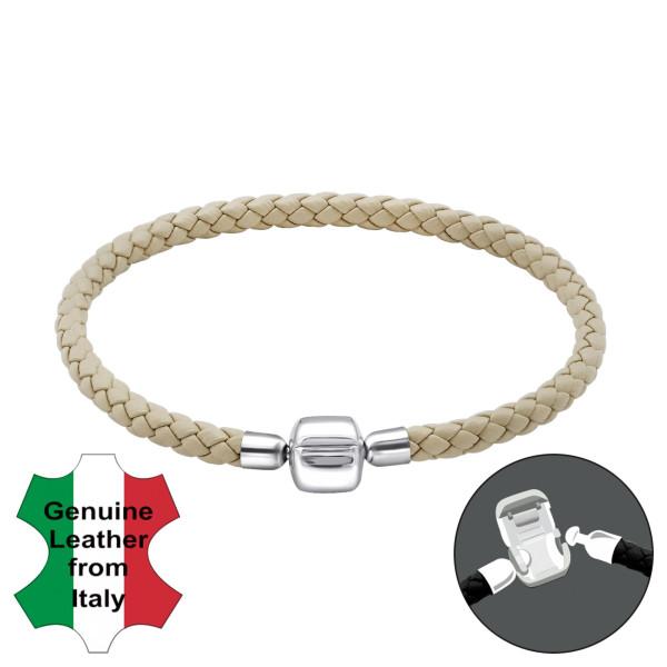 Bead Bracelet BDBR-RD-19CM-BEIGE/22507