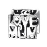 Silver Love Mum Bead, #9201