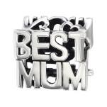 Silver Best Mum Bead, #6404