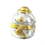 Silver Snowman Bead, #14117