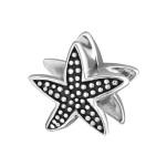 Silver Starfish Bead, #4227