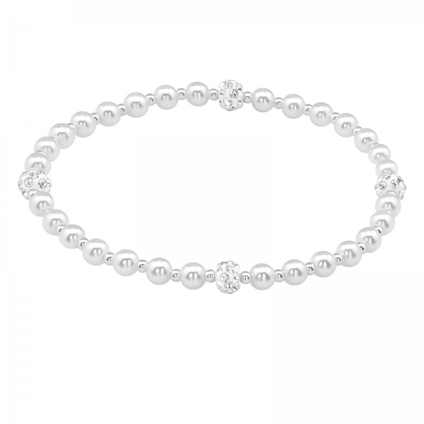 Bracelet BBR-PPL4-FB5 WH/CRY/39624
