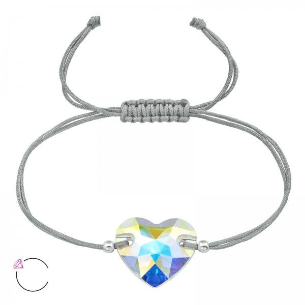 Corded Bracelet CDBR2-BD3259-16-AB-SB3x2-SWR/39012