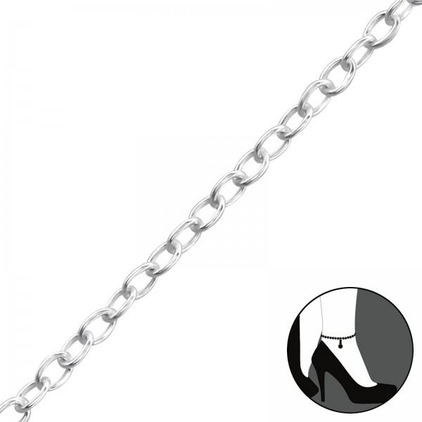 Silver Anklet ANK-FORZ025-25CM/1998