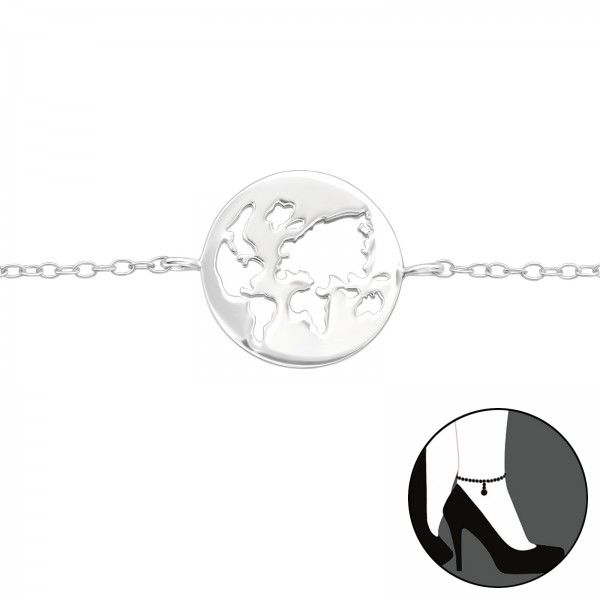 Silver Anklet FORZ25-ANK-23.5+1.5-JB9780/41149