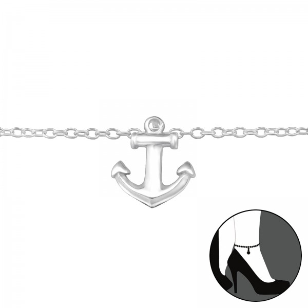 Silver Anklet FORZ25-ANK-BH-JB6188/29973