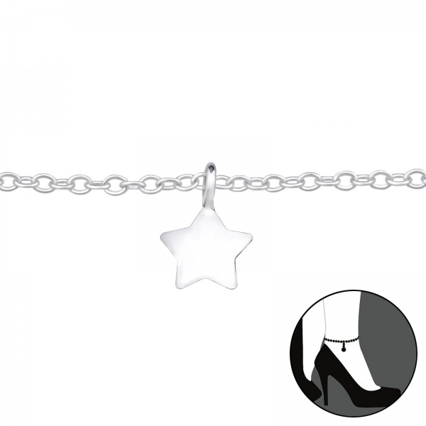 Silver Anklet FORZ25-ANK-TOP-APS1406-FLAT/27636