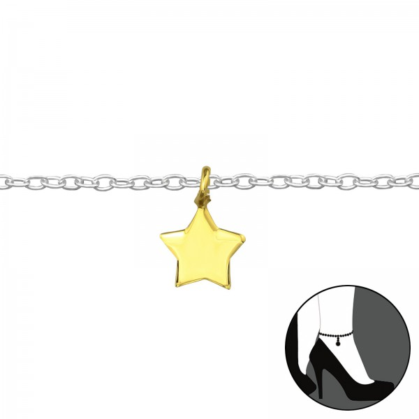 Silver Anklet FORZ25-ANK-TOP-APS1406 SP/GP/39445