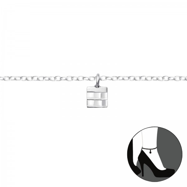 Silver Anklet FORZ25-ANK-TOP-APS1407-FLAT-DC03/36040