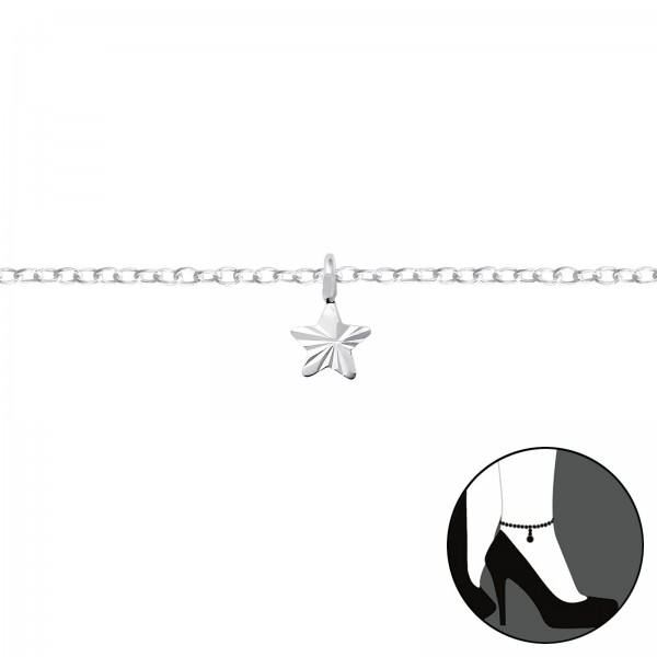 Silver Anklet FORZ25-ANK-TOP-APS1598-FLAT-DC01/35937