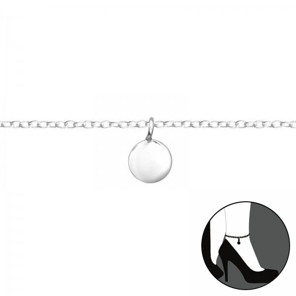 Silver Anklet FORZ25-ANK-TOP-APS1885-FLAT/36043